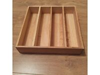 Wooden cutlery tray NEW!