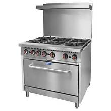 New Commercial Gas 6 Burner Cooktop Stove & Large Gas Oven Shop Westmead Parramatta Area Preview