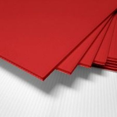 Red Corrugated Blank Sign Sheet 4mm X 12 X 12 - Vertical