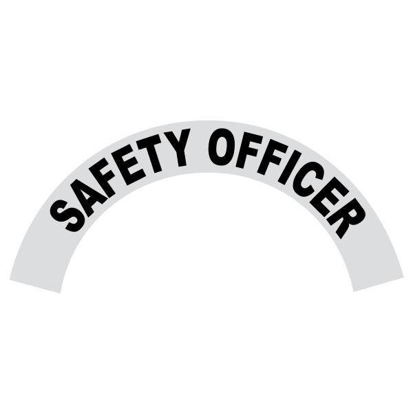 Safety Officer Black Helmet Crescent Reflective Decal Sticker