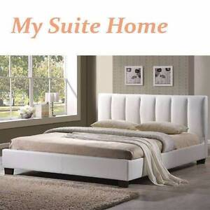 SYD Paris Brand New PU Leather Bed Queen King Black White Sydney City Inner Sydney Preview