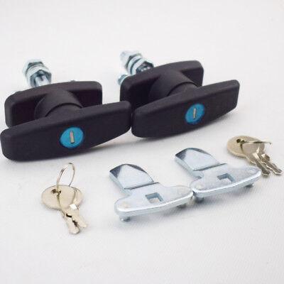 2pcs T Handle Latchlock Keyed Alike Black Coated For Cabinet Locksmith Gear Set