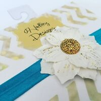 Elastic Flower Accent Hairbands