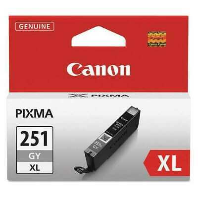 Canon CLI 251XL Gray Ink Cartridge, High Yield (6452B001)