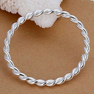 Twisted Single Bangle 925 Sterling Silver NEW 925 Sterling Silver Bangle