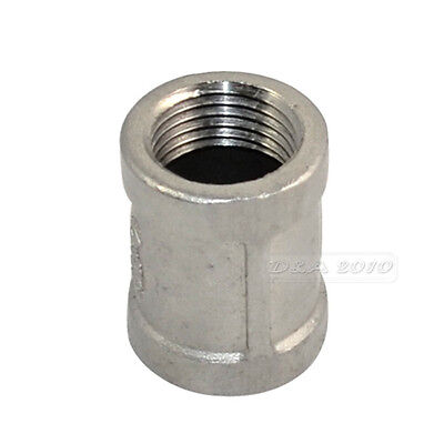 12 Female - 12 304 Stainless Steel Threaded Coupling Pipe Fitting Npt