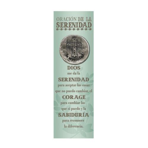 Grasslands Road Oracion de la Serenidad Serenity Prayer Spanish Token & Bookmark