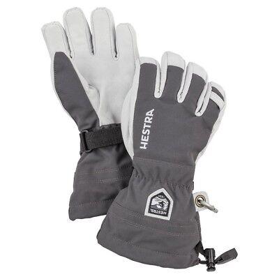 Hestra Junior Army Heli Kids Ski Gloves, Grey