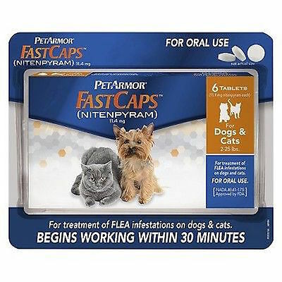 PetArmor FastCaps for Dogs and Cats 2-25 lbs 6 ct