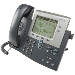 Cisco CP-7942G Unified VoIP Phone - (2) Programmable Line/Feature Keys - PoE - w/Handset