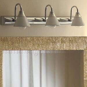 Applique spot 3l lampada parete classico cromo cromato ceramica bagno specchio ebay - Applique per specchio bagno classico ...