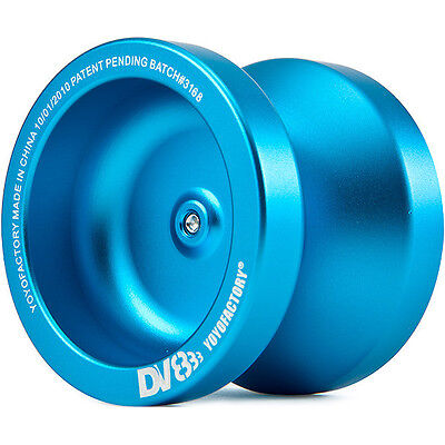 Aqua Blue Dv888 Responsive Metal Yo Yo From The Yoyofactory   3 Neon Strings