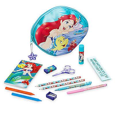 NWT Disney store Ariel Zip up stationary Kit art case School Supplies](School Store Supplies)