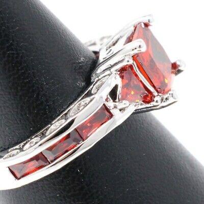 Hand Ring Jewelry - Hand Carved Red Ruby Ring Women Jewelry Anniversary Wedding Birthday Gift Box