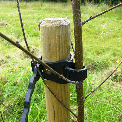 Tree stakes and Ties x 10 . Height:150 cm  x 5 cm dia. Includes Free Delivery