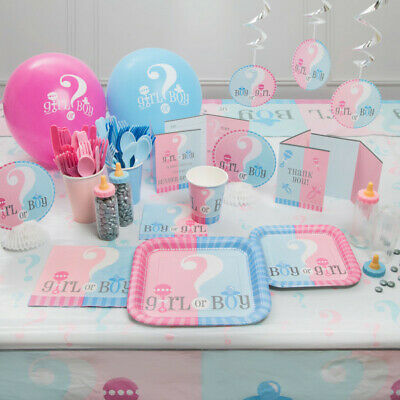 Gender Reveal Party Pack 106 PIECE SET: