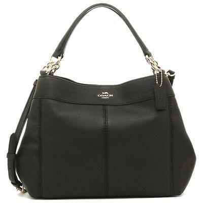 NWT Coach F28992 Small Lexy Pebbled Leather Shoulder Bag Crossbody Black
