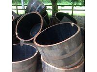 Half oak whisky barrels