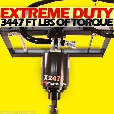 Skid Steer Auger 3000psi Extreme Duty Gear Drive Mcmillen X2475 W30tree Bit