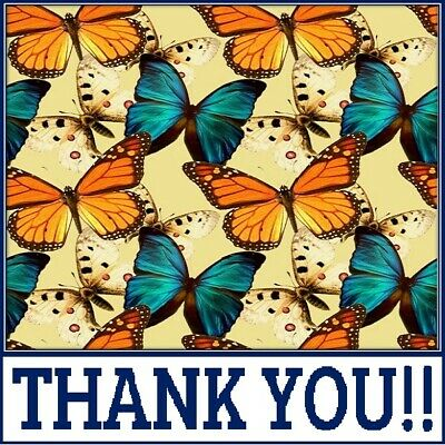 30 Custom Butterfly Wishes Thank You Personalized Address Labels