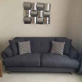 2 x DFS 3 Seater Sofas