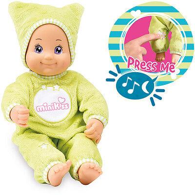 Smoby Minikiss Gute Nacht Puppe mit Licht und Musik (Grün) ()