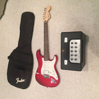 Squire Strat Fender Guitar with Amp
