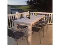 Lovely 3 bed static caravan for hire Porth Newquay for Easter 2017 with Indoor Pool surfing beaches