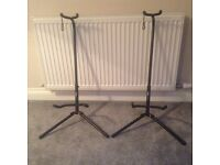 TWO FOLDING GUITAR STANDS