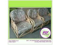 SALE NOW ON!! Conservatory Suite - Two-Seater & Two Armchairs - Can Deliver For £19