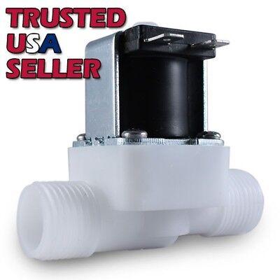 "1/2"" 24 Volt AC Plastic Electric Solenoid Valve Water NPT Thread 24V AC N/C"