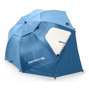 SPORT-BRELLA XL BLUE Sportbrella Shelter Shade Umbrella Tent Sun Beach Camping