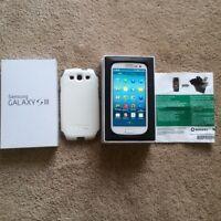 Samsung galaxy S3,LNIB,Rogers & chatr,white,190$