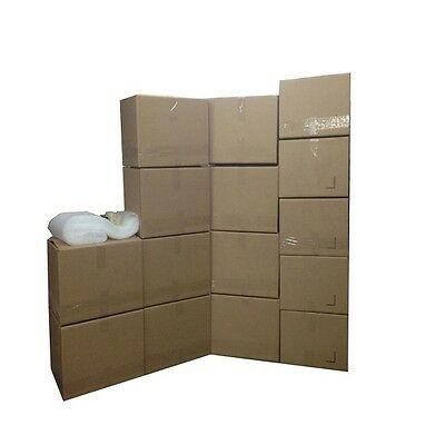 Economy Moving Box Kit - 15 Boxes 10 Medium5 Small Plus Supplies Included