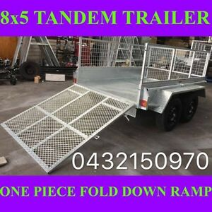 8X5 GALVANISED TANDEM TRAILER WITH FOLD DOWN RAMP 2000KGS ATM 1 Clayton Monash Area Preview