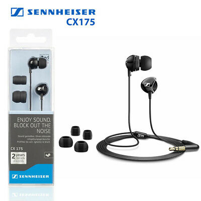 Used, LOT of 2 Sennheiser CX175 In-Ear Phones Headphones Hi-Fi Dynamic Speaker CD MP3 for sale  Shipping to India