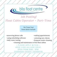 Help wanted - Bliss Float Centre