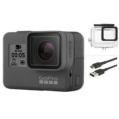 Used GoPro HERO 5 Black Waterproof Action 4K Ultra HD Camera Touch Screen Case