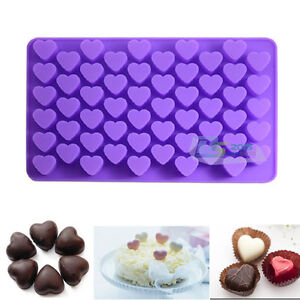 Silicone 55 Mini Heart Chocolate Candy Cake Cookies Baking Mould Ice Cube Mold