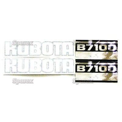 New Kubota B7100 Blackwhitesilver Decal Set