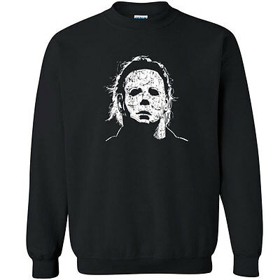 010 Halloween Mask Crew Sweatshirt scary movie 70s party culture horror costume - 70s Halloween Party