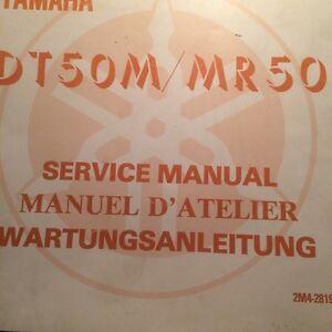 1978 Yamaha DT50M MX50 Factory Service Manual
