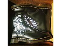 Dr. Martens black custom size 8