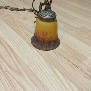 Lampe antique en brass