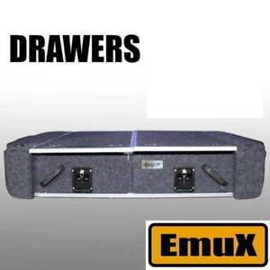 EmuX Rear Drawers with wings and fridge slide 4x4 car