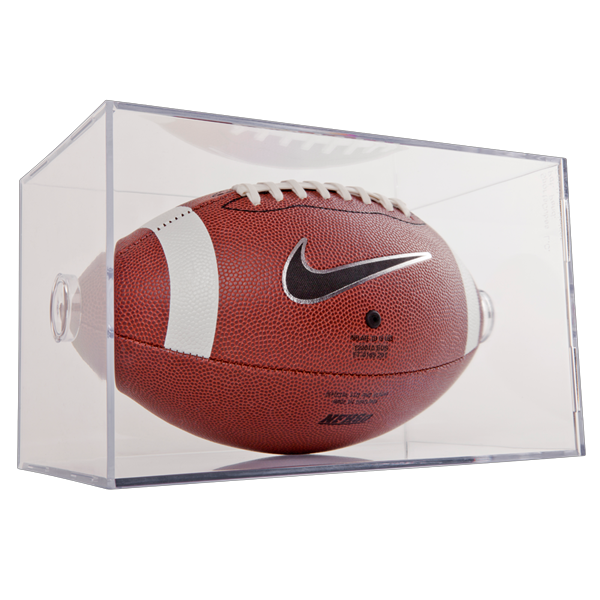 Autographs-original Display Cases The Cheapest Price New Ballqube Football Holder Sports Memorabilia Display Case Box
