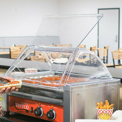 Sneeze Guard 18 Hot Dog Roller Grill Clear Acrylic Plastic Single Door Protect