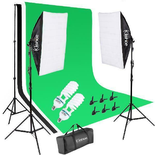 135W Soft Light Box with Background Stand Muslim Cloth US