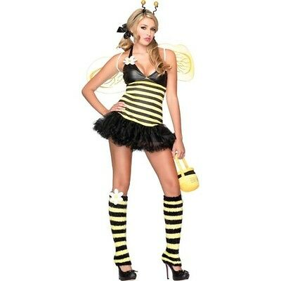 Sexy Leg Avenue Woman's Daisy Bee Costume Extra Small 0-2 Fancy Dress - Leg Avenue Bee Costume