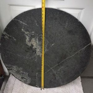 Round solid granite table top